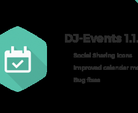 Joomla News: DJ-Events with the improved calendar module and Social Sharing icons