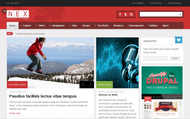Drupal News: News theme for your drupal