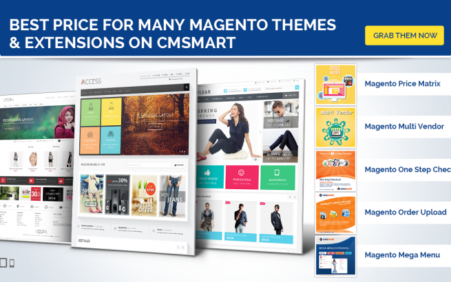 Magento news Cmsmart Offers the Best Price for Magento Themes and Extensions