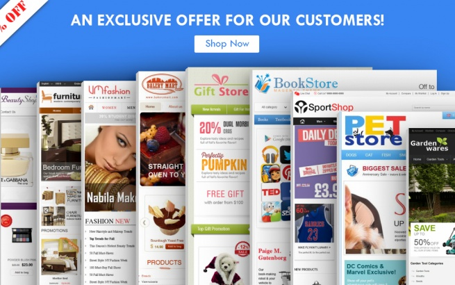 Magento news Saving up to 50% OFF for Magento and Virtuemart themes