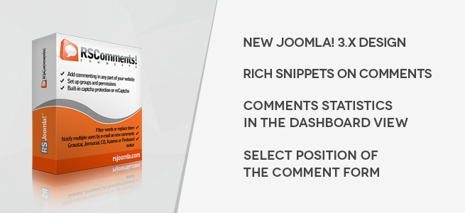 Joomla news RSComments! v1.13.0 Released!