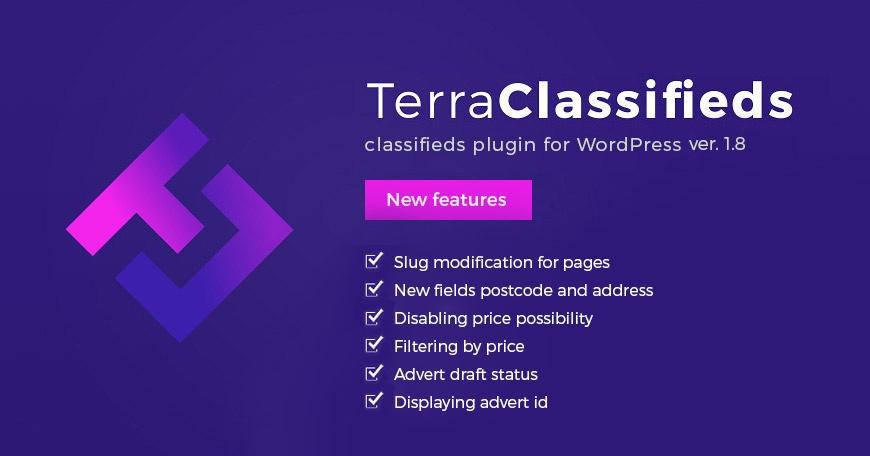 WordPress News: TerraClassifieds WordPress plugin 1.8 Update