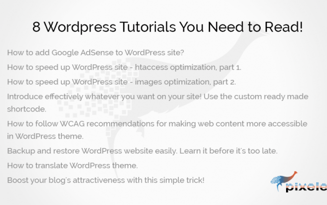 PixelEmu Wordpress News: 8 ‪‎Wordpress‬ Tutorials‬ You Need to Read!