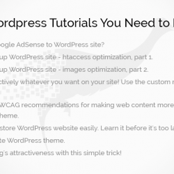 Wordpress news: 8 ‪‎Wordpress‬ Tutorials‬ You Need to Read!