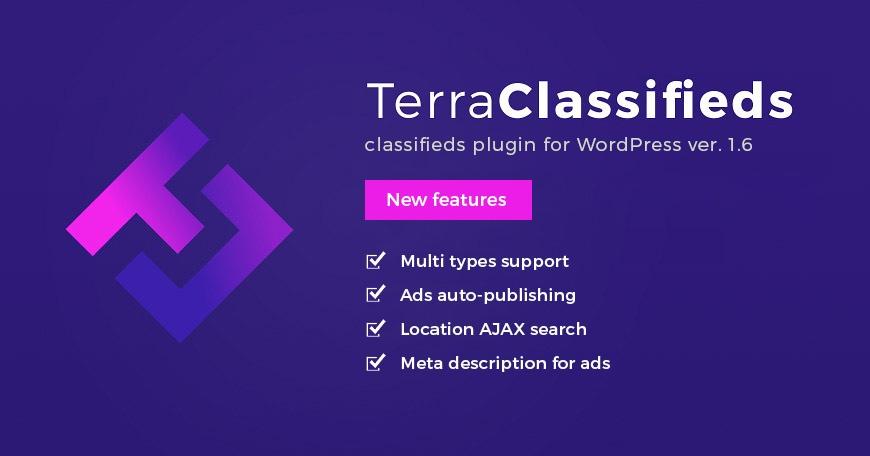 WordPress News: Update - TerraClassifieds WordPress classifieds plugin ver. 1.6.