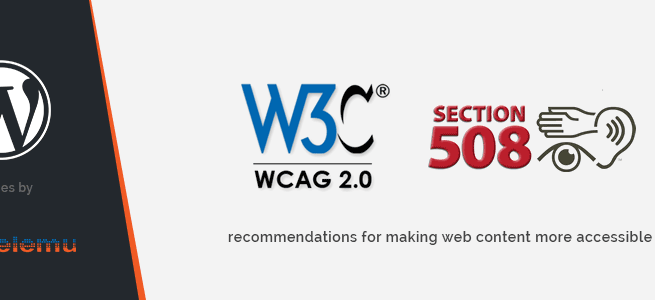 WordPress News: How to follow WCAG recommendations in WordPress theme.