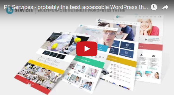 PixelEmu Wordpress News: Must watch the video presentation of our latest multipurpose accessible theme!