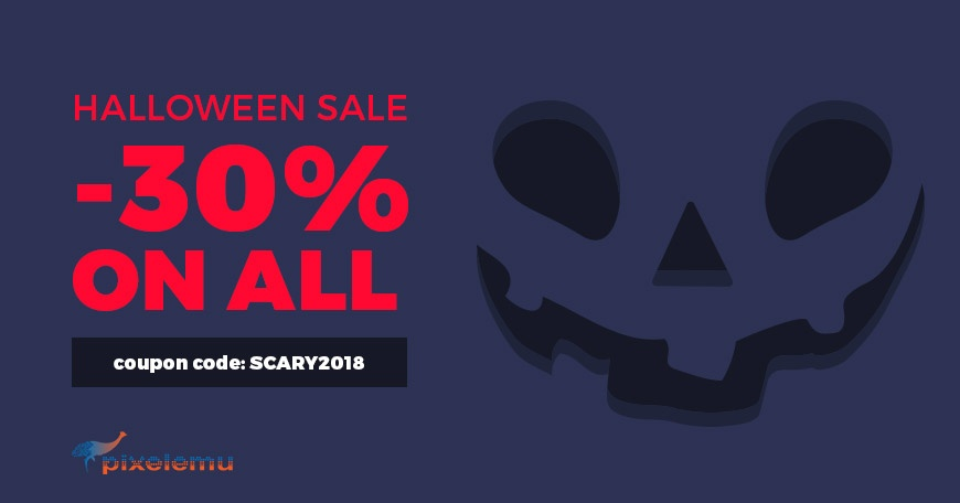 WordPress News: Ready for a frightful Halloween 2018 WordPress theme discount? Save -30% on all!