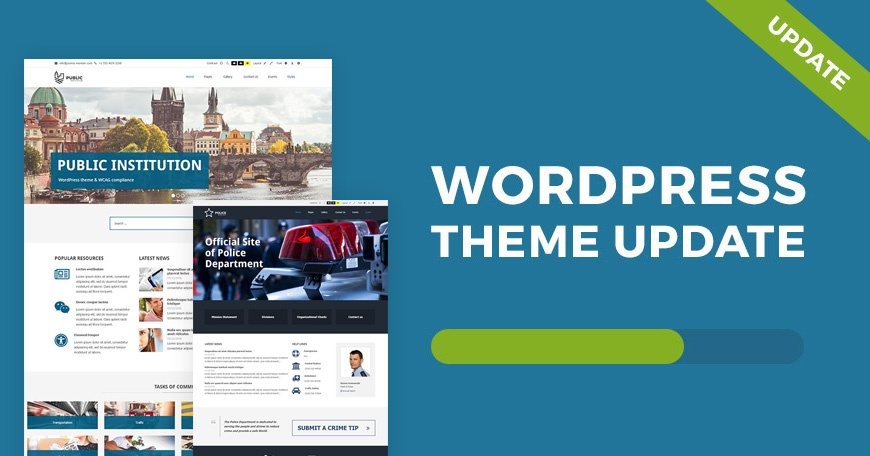 WordPress News: Public Institutions - WCAG and ADA WordPress theme updated