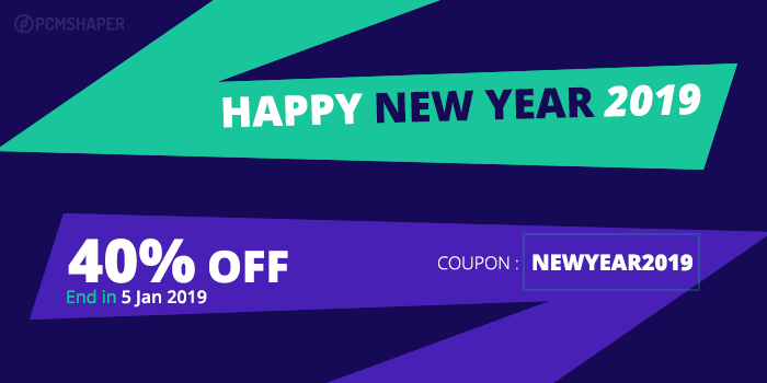 Joomla News: New Year Sales 2019 Discount Coupon