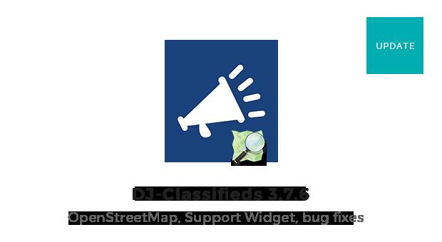 Joomla News: DJ-Classifieds 3.7.6 with OpenStreetMaps, advert hits and Support widget