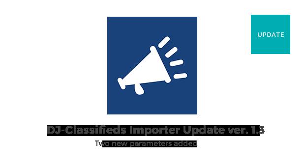 Joomla News: DJ-Classifieds Importer component update