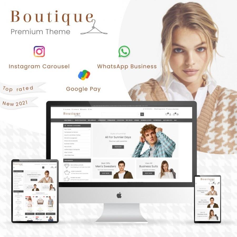 Prestashop News: Boutique Fashion - Clothes & Shoes, Jewelry & Watch Prestashop Theme