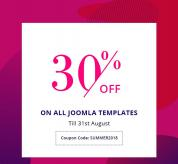 Joomla news: The Biggest Sale of the Season - Get 30% Off on all Joomla Templates