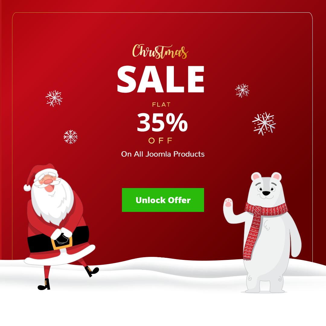 Joomla News: JoomDev Offering Flat 35% Discount Sitewide - Christmas Sale
