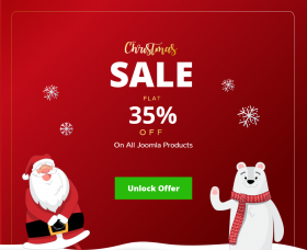 Joomla News: JoomDev Offering Flat 35% Discount Sitewide - Christmas Sale