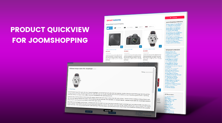 SmartAddons Joomla News: Set Quickview for JoomShopping Component