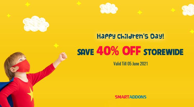 Joomla News: Happy Children's Day 2021! 40% OFF on Everything