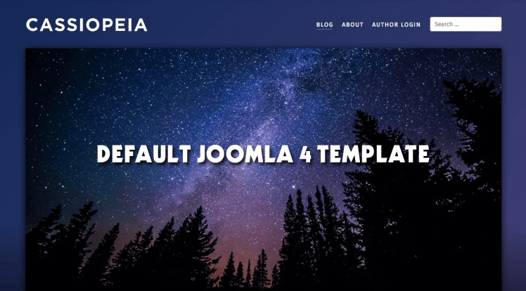 Joomla News: Cassiopeia - Default Frontend Joomla 4 Template