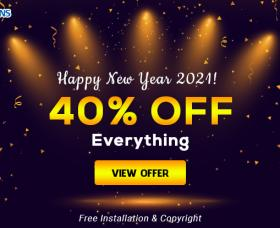 News Joomla: Happy New Year 2021! 40% OFF Storewide & Free 2 SmartAddons