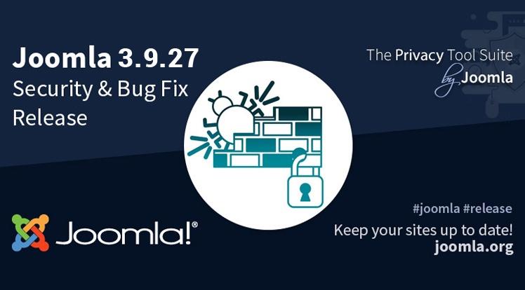 Joomla News: Joomla 3.9.27 Security and Bug Fix Release