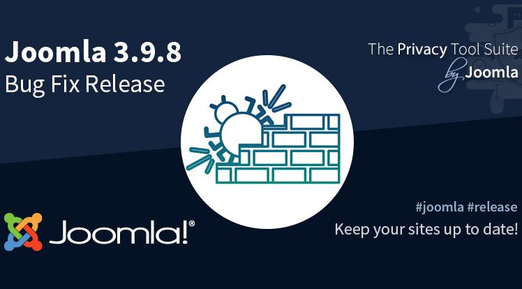 Joomla News: Joomla! 3.9.8 Bug Fix Release
