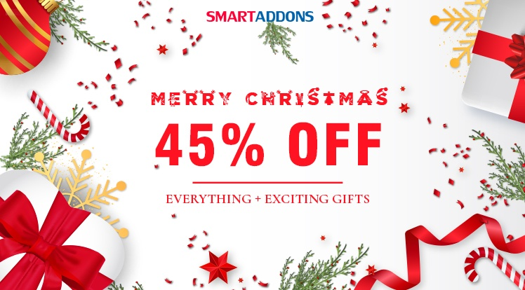 SmartAddons Joomla News: Merry Christmas! Save 45% OFF Everything & Exclusive Xmas Gifts from SmartAddons