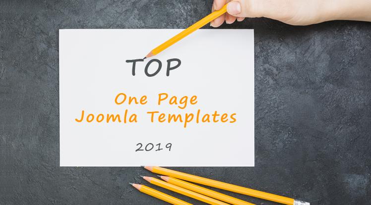 Joomla News: Top One Page Joomla Templates in 2019