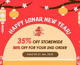 Joomla News: Lunar New Year 2020 Sale: 35% Off Storewide & Get 50% Off Coupon on Second Order