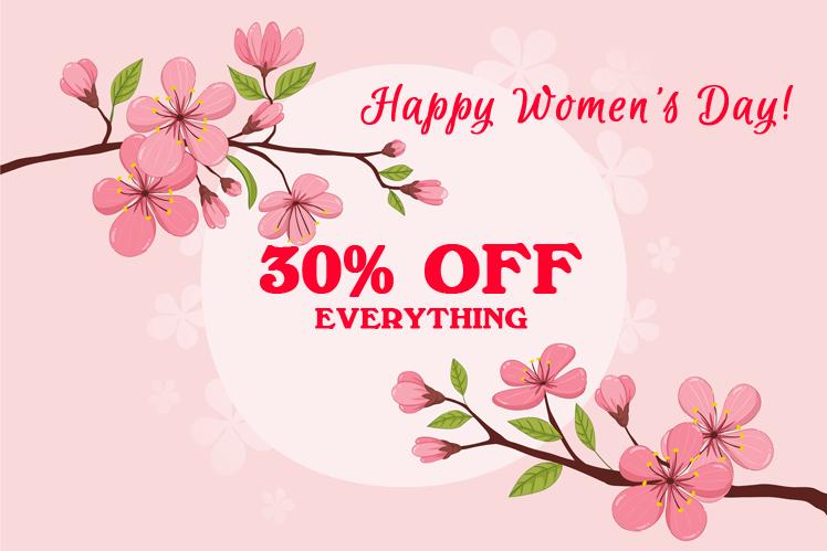 Joomla News: Happy Women's Day 2019: Enjoy 30% OFF Offer on Storewide