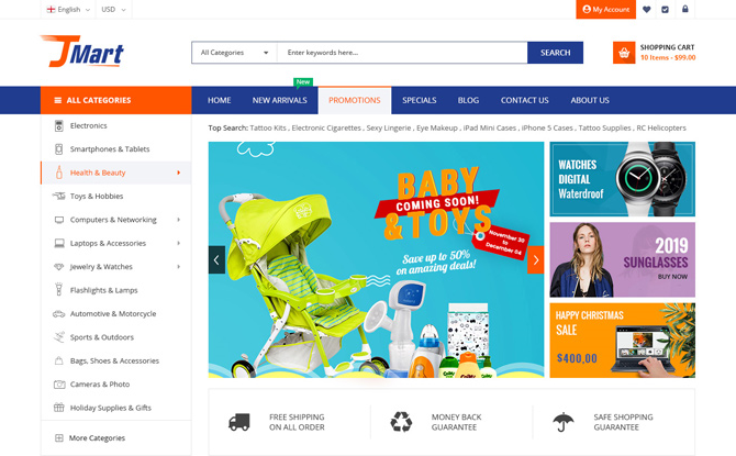 Joomla News: [PREVIEW] Sj JMart - Elegant eCommerce JoomShopping Template