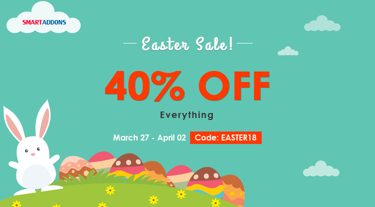 Joomla News: Happy Easter Day 2018 with 40% OFF on Everything