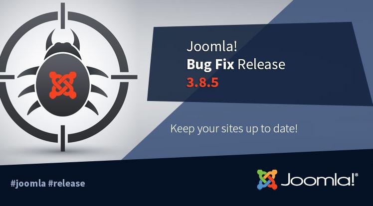 Joomla News: Joomla! 3.8.5 Release