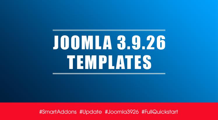 Joomla News: Joomla Templates Updated for Latest Joomla 3.9.26