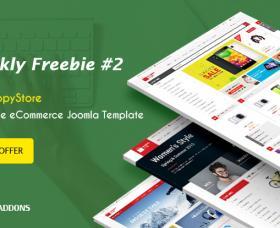 Joomla News: SmartAddons Weekly Freebie #2: Grab Sj ShoppyStore Template Package For Free