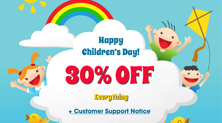 SmartAddons Joomla News: Happy Children's Day 2018: Save 30% OFF on Everything