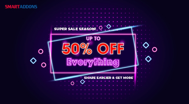 SmartAddons Joomla News: [Black Friday Sale] Up to 50% OFF Storewide on SmartAddons