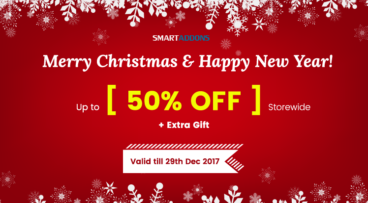 Joomla News: Christmas & New Year Sale: Save up to 50% OFF Everything & Get Exclusive Xmas Gift