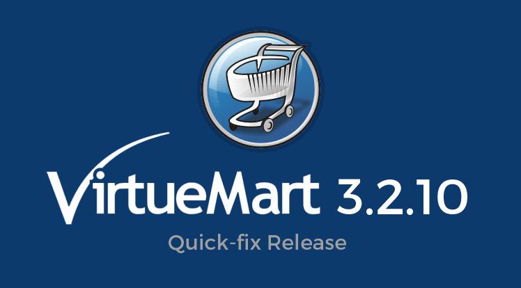 Joomla News: VirtueMart 3.2.10 - A Quick-fix Release