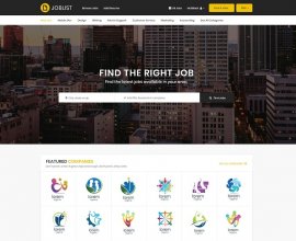 Joomla News: [PREVIEW] Sj JobList - Professional Joomla Job Board Template