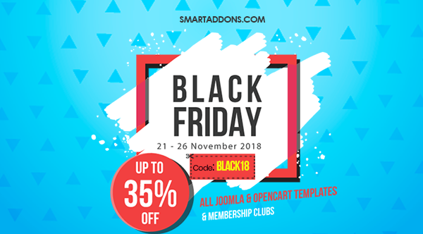 SmartAddons Joomla News: Black Friday Sale: Save 35% Off on Everything