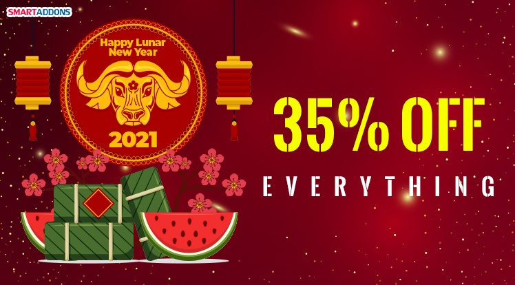 SmartAddons Joomla News: SmartAddons Lunar New Year Offer! 35% OFF on New Purchases & Renewals