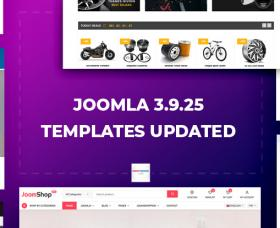 Joomla news: Joomla Templates Updated to Joomla 3.9.25