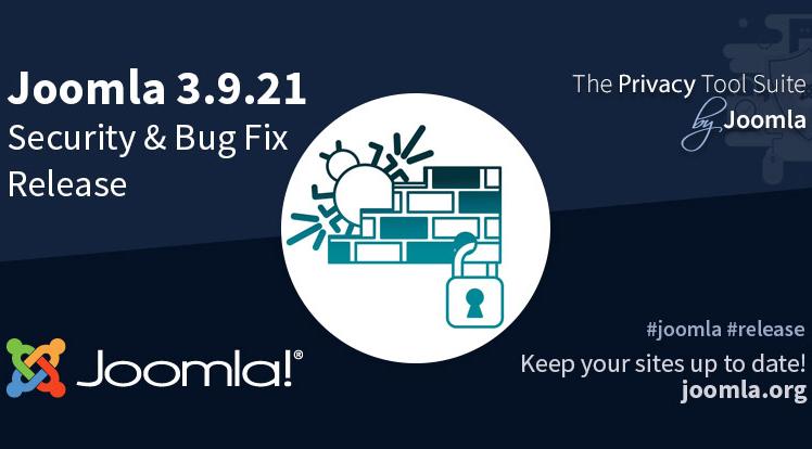 Joomla News: Joomla 3.9.21 Security & Bug Fix Release