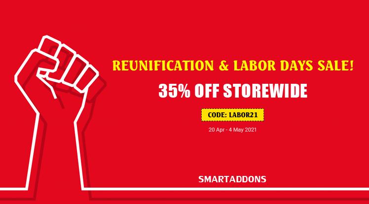 Joomla News: Reunification & Labor Days Sale! 35% OFF on Storewide