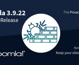 Joomla News: Joomla 3.9.22 Bug Fix Release
