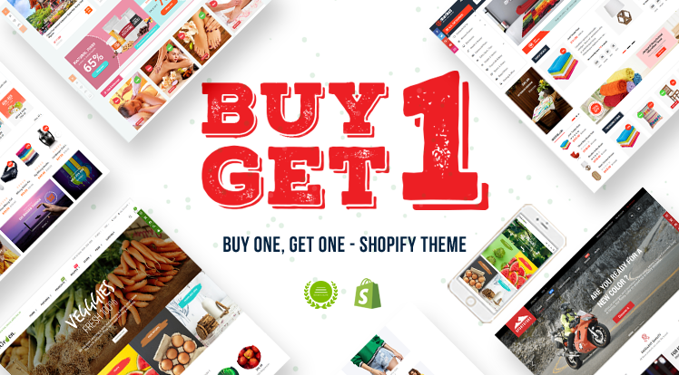 SmartAddons Joomla News: Easter Sale: Buy One Get One FREE on Best Shopify Themes 2019