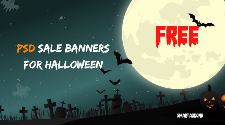 SmartAddons Joomla News: 10 Free Graphic Sale Banner Templates in PSD for Halloween