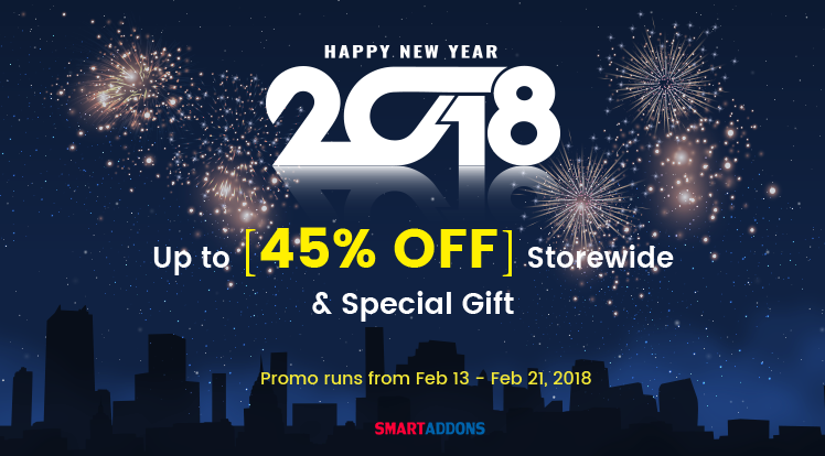 SmartAddons Joomla News: Lunar New Year Offer: Up to 45% OFF Everything & Special Gift