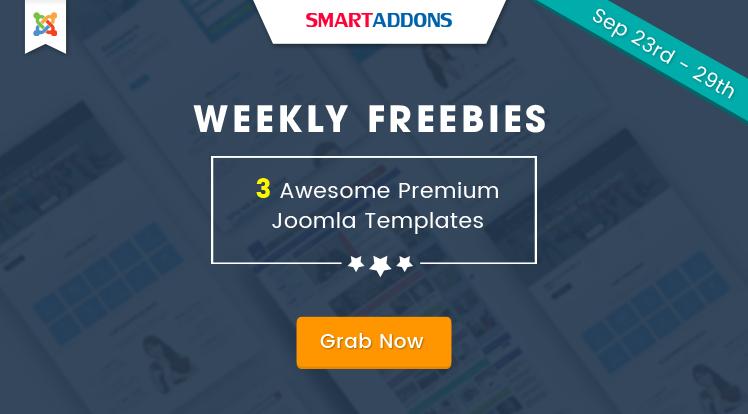 Joomla News: SmartAddons Weekly Freebie #3: Grab 3 Premium Joomla Templates For FREE